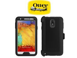 (Ship From US) Otterbox Defender Series Protective Case Cover For Samsung Galaxy Note 3 ( Note III ) N9000 N9005 Black w/ Holster Belt Clip 77-34120