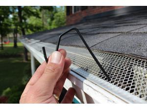 50 count Black Halloween / Christmas Hook for gutters with perforated or mesh leaf gutter guard