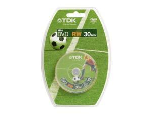 TDK DVD+RW 1.4Gb 8cm 30min Spindle 10 dvd rw camcorder mini dvd tdk