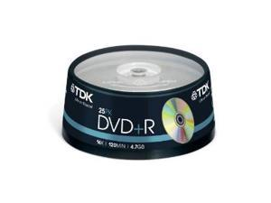 TDK DVD+R 4.7Gb 16x Spindle 25 tdk dvdr recordable blank dvd 25 pack