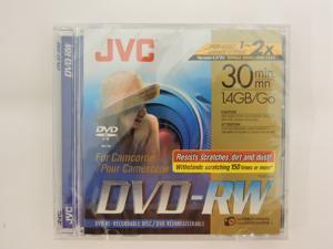 JVC DVD-RW 1.4Gb 8cm 30min Pk 5 Camcorder Mini dvd discs -jewel case
