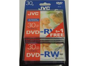 JVC DVD-RW 1.4Gb 8cm 30min Pk 5+1 camcorder discs in jewel case
