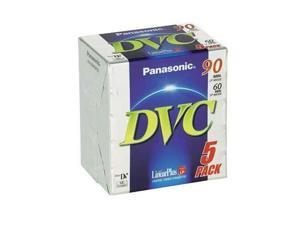 Panasonic DVM 60 Mini Tape premium Pk 5 DVC tapes for camcorders