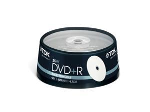 TDK DVD+R 4.7Gb 16x Spindle 25 Printable recordable blank dvdr 4.7 gb