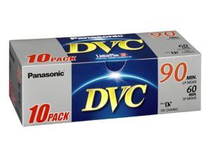 Panasonic DVM 60 Mini Tape premium Pk 10 DVC tapes for camcorders