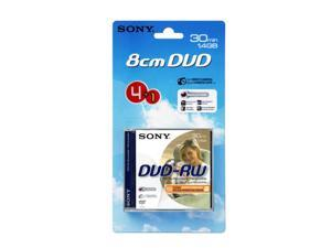 Sony DVD-RW 1.4Gb 8cm 30min Pk 4+1 rewritable mini discs for camcorder