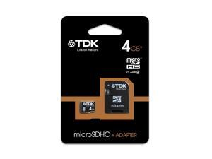 TDK T78536 - 4GB Class 4 Micro SDHC with adapter