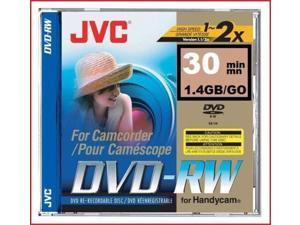 JVC DVD-RW 1.4Gb 8cm 30min Pk 10 camcorder discs blank in jewel case