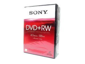 SONY DVD+RW 4.7GB Video Box Pack 5
