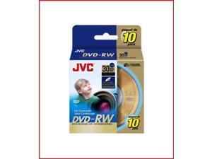 JVC DVD-RW 1.4Gb 8cm 30min Spindle 10 camcorder discs re-writable dvdr
