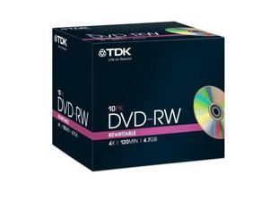 TDK DVD-RW 4.7Gb Pack 10 tdk dvdrw blank dvd 4.7 gb rewritable dvd