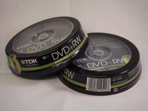 TDK DVD+RW 4.7Gb 4x Spindle 10 rewritable blank tdk dvdrw 4.7 gb