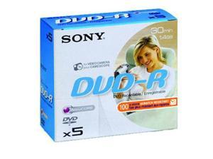 SONY DVD-R 1.4Gb 8cm 30min Pk 5 camcorder disc recordable mini discs