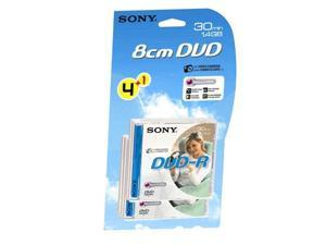 SONY DVD-R 1.4Gb 8cm 30min Pk 4+1 camcorder disc recordable mini discs