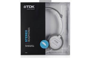 TDK ST-100 WHITE Ultralight Stereo Headphones ST100