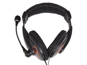 3.5mm Audio Jacks Wired Headphone Headset Microphone with Mic for PC Laptop Computer Black