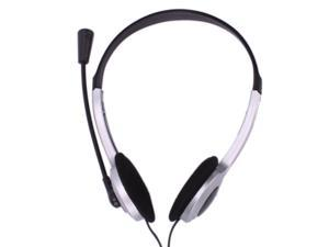 3.5mm Jack Wired Headphone Headset with Mic For PC Latop/Computer
