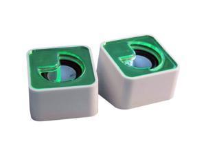 iMicro SP-IM500GR USB Wired Computer Mini Speaker Green RETAIL