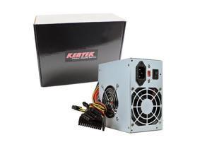 Kentek 600W ATX Computer Power Supply 2 Fans SATA