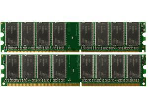 2GB (2X1GB) PC2700 DDR-333MHz 184-Pin DIMM Desktop Memory for eMachines W4885
