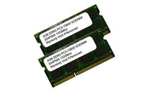 8GB 256x8 (2x4GB) KIT PC3-10600 DDR3-1333MHZ 204 Pins SODIMM Laptop Memory