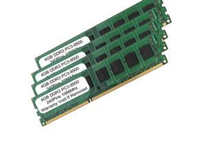 16GB (4x4GB) PC3-8500 DDR3-1066MHZ 240PIN UnBuffered DESKTOP RAM MEMORY