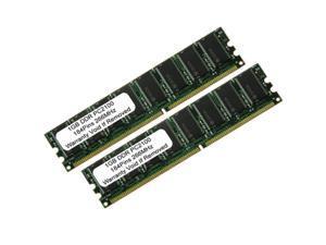 2GB (2X1GB) PC2100 PC DDR 266 184Pin UnBuffered LOW DENSITY DESKTOP MEMORY