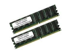 2GB (2X1GB) PC3200 DDR 400MHz 184pin UnBuffered LOW DENSITY Desktop MEMORY
