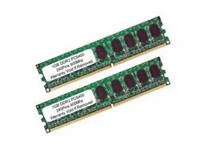 2GB (2x1GB) PC2-6400 DDR2-800MHz Dual Channel Kit Low Density Desktop RAM Memory