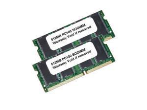 1GB (2x512MB) PC100 144Pin SODIMM SDRAM UnBuffered LAPTOP RAM MEMORY