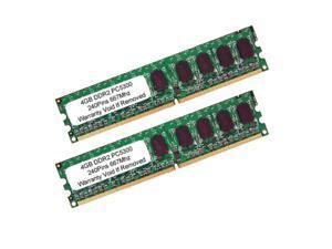 8GB (2 x 4GB) PC2-5300 DDR2-667MHZ 240Pin UnBuffered DIMM Desktop RAM Memory