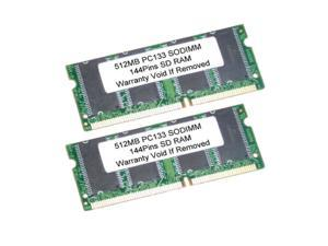 1GB (2X512MB) SDRAM PC133 144Pin 133MHz SODIMM LAPTOP RAM Memory