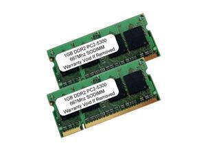 2GB (2X1GB) PC2-5300 DDR2-667Mhz 200Pn SODIMM Laptop Memory