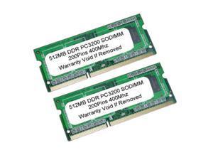 1GB (2x512 MB) PC3200 DDR-400Mhz 200Pin SODIMM LAPTOP Memory
