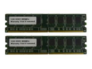 2GB Kit (2x1 GB) DDR2 800MHz PC2-6400 Non ECC DIMM Desktop Memory for Dell Dimension
