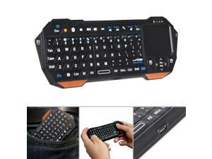 Compact Design Full QWERTY Keyboard Wireless Mini Portable 10m Remote Bluetooth Keyboard with Multi-Touch Pad Mouse Indicator Light