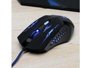 Masione 6 Button LED Pro Gamer Mouse USB Wired Gaming Mice Mouse For Laptop
