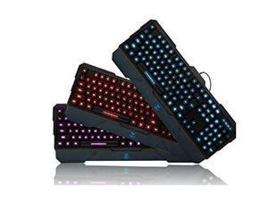 AULA DragonTooth LED Illuminated Backlit Ergonomic Multimedia USBGaming Keyboard