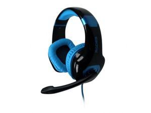 Sades A50 Stereo Headset w/Mic 7.1 Bass Surround USB Black & Blue For PC Gaming