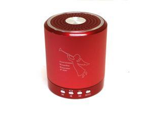 T-2020 Portable Mini Media Player Speaker 2-CH w/FM TF USB Mic Line-in Red