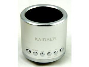 Silver Kaidaer Mini Speaker TF card\MP3\USB Player, Stereo KD-MN02 With FM Radio