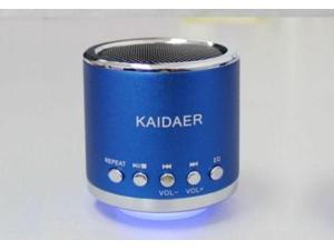 BLUE Kaidaer Speaker TF, SD card\MP3\USB Player FM RADIO Heavy Bass KD-MN02