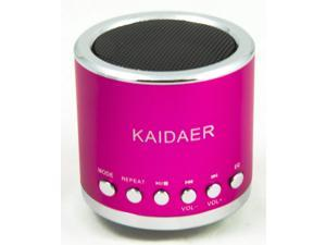 Pink Kaidaer Mini Speaker TF card\MP3\USB Player, Stereo KD-MN02 With FM Radio