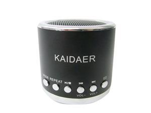 Black Kaidaer Mini Speaker TF card\MP3\USB Player, Stereo Heavy Bass, KD-MN02