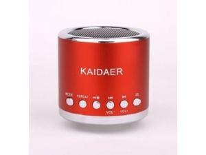 Red Kaidaer Speaker TF, SD card\MP3\USB Player FM RADIO Heavy Bass KD-MN02