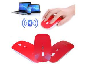 Slim Red Wireless Bluetooth 3.0 Mouse Mice 1600 DPI For PC Android 3.1+ Tablet