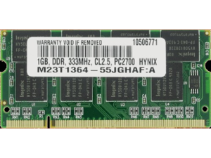 1 GB PC2700 DDR-333MHz 200-Pin SODIMM RAM Memory for DELL Inspiron 5160 700m 710m 8600 9200