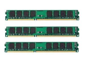 12GB (3x4GB) PC3-10600 1333MHz DDR3 240-Pin DIMM Unbuffered NON-ECC 1.5V DESKTOP MEMORY