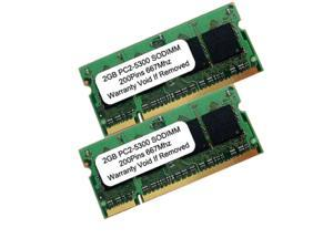 4GB (2X2GB) PC2-5300 DDR2-667MHz 200pin SODIMM LAPTOP RAM MEMORY