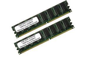 2GB (2X1GB) PC2700 DDR 333 184pin UnBuffered LOW DENSITY DIMM Desktop MEMORY